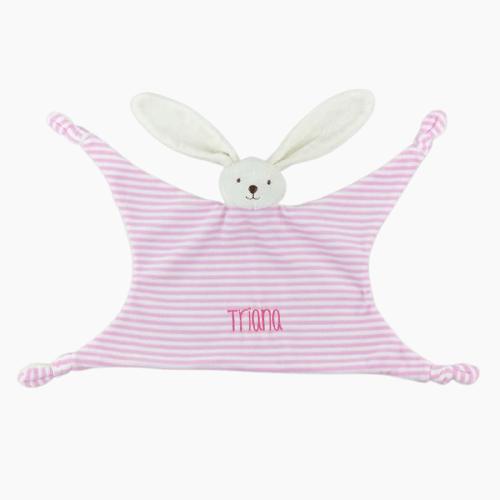 Doudou personalizado rallas rosa