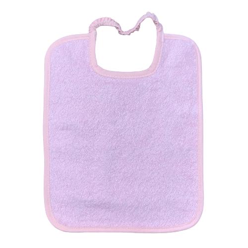 Babero con goma personalizado rosa