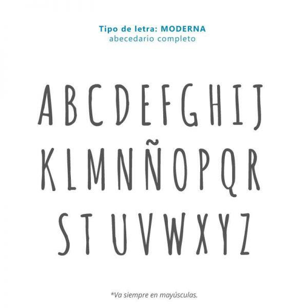 Tipo de letra MODERNA