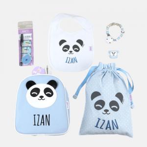 Pack vamos al cole panda azul