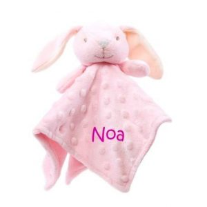 Doudou personalizado rosa conejito