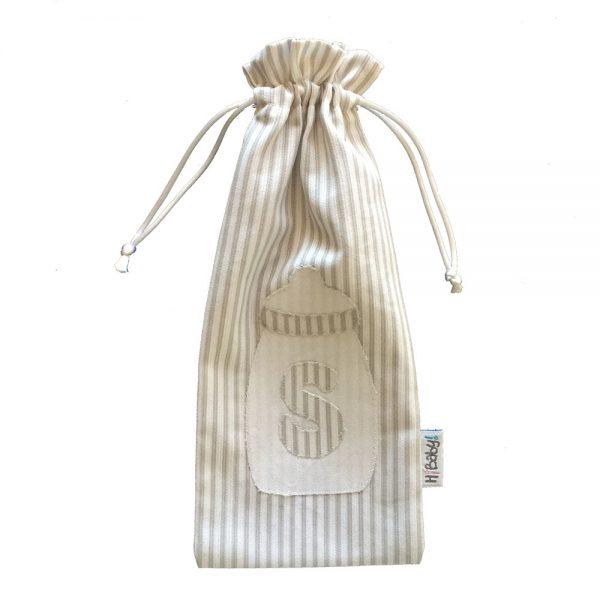 Bolsa biberón personalizada con la letra del bebé