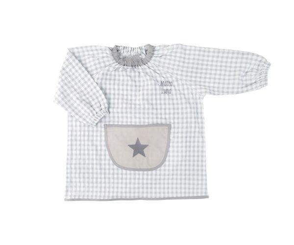 Bata guardería estrella color gris